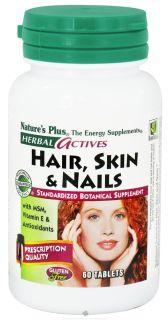 Buy Natures Plus   Herbal Actives Hair Skin & Nails   60 Tablets at