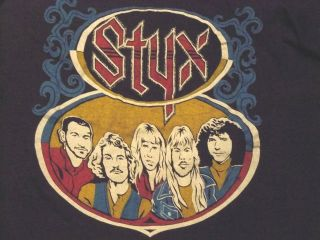 Real vintage 1970s 80s Styx concert tour shirt
