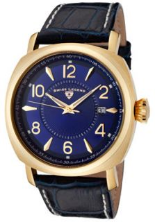 SWISS LEGEND 10050 YG 03 Watches,Mens Executive Blue Dial Gold Tone