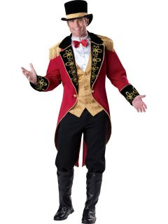 RINGMASTER circus ring master clown adult mens halloween costume LARGE