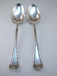 International HAMPDEN 2 Serving Spoons aka Tablespoons Wm Rogers