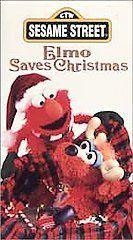 Sesame Street ELMO SAVES CHRISTMAS Childrens VHS TAPE