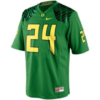 Nike Oregon Ducks #24 Game Football Jersey   Apple Green