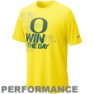 Nike Oregon Ducks Win the Day Football Practice T Shirt   Yellow