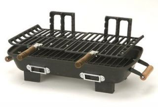 New Marsh Allen 30052 Cast Iron Hibachi 10 by 18 Inch Charcoal Grill