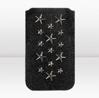 Jimmy Choo  Trent  Black Pixelated Leather iphone Case  JIMMYCHOO