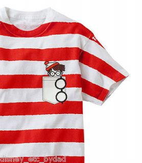 Waldo T Shirt Red White Stripe Cotton Pocket Tee NIP Mens Sz XXL