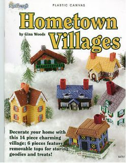 Plastic Canvas Hometown Villages   14 Pieces Ret.$9.​95