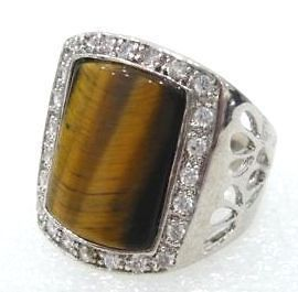 Beautiful tiger eye STONE mens rings size8,9,10,11
