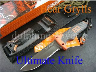 Gerber Bear Grylls Ultimate Fixed Blade Knife Fire Starter & Sheath