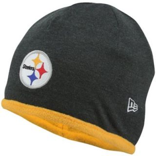 New Era Pittsburgh Steelers Ladies Flip Fleece Reversible Knit Hat