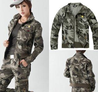 NEW ARMY CAMO JACKET CAMOUFLAGE UNISEX CAMO COAT Jacket Free Shippping