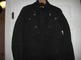 star Black Military style Jacket top XXL 3301 Over shirt Denim