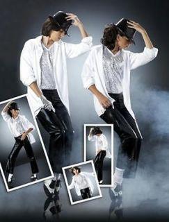 5pc Set BLACK OR WHITE Michael Jackson Halloween DANCE Costume CHOICE