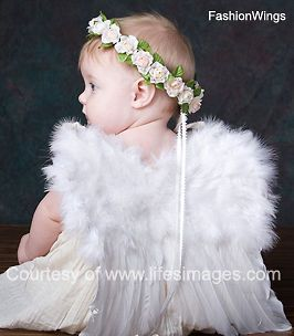 White costume feather wings 6 12mo baby tots angel fairy swan dove