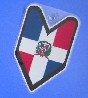 JDM Car Decal Badge Dominican Republic Flag not vinyl sticker #