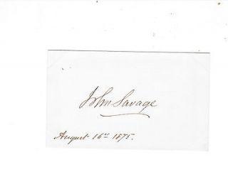 John Savage Hand Signed Card House Of Representatives Ohio