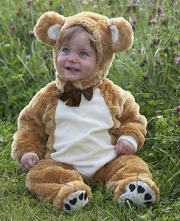 BABY TODDLER CUTE DELUXE TEDDY BEAR FANCY DRESS HALLOWEEN COSTUME NEW