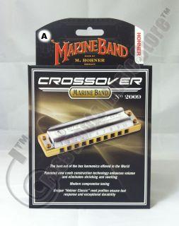 Marine Band CROSSOVER Diatonic HARMONICA Key of A M2009BX NEW harp