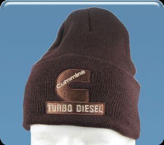 Dodge Ram Cummins Turbo Diesel beanie hat cap in brown