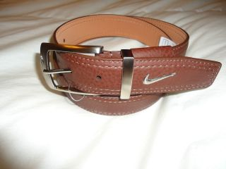 Mens Nike Swoosh Golf Belt Brown All Sizes Tiger Woods Cap Hat Driver