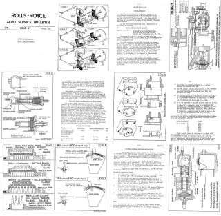 ROLLS ROYCE MERLIN, GRIFFON & EAGLE AERO ENGINES SERVICE BULLETINS