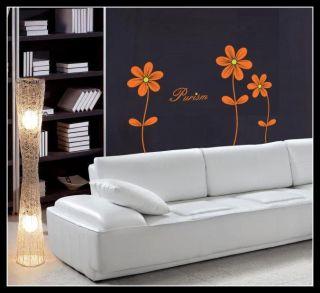 Set of 3 Daisy Flower Vinyl Wall Art Sticker Decal Decoration Bedroom