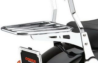 COBRA SISSY BAR LUGGAGE RACK HARLEY FLSTFB FAT BOY LOW 2010 2012