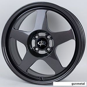 15 ROTA SLIPSTREAM GUNMETAL RIMS WHEELS 15x7 +40 4x100 CIVIC INTEGRA