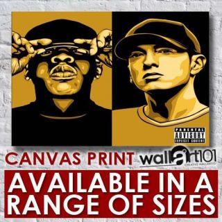 Dj Hero Renegade   Jay Z And Eminem Hip Hop High Quality Framed