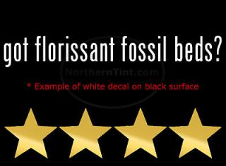 got florissant fossil beds? Vinyl wall art car decal