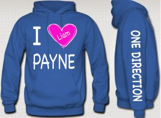 love liam payne HOODIE with pink heart niall zayn liam louis one