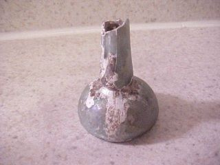 Ancient Roman Glass Bottle green iridescent small Perfume ?