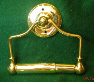 Solid Polished Brass Toilet Tissue Paper Holder Hanging