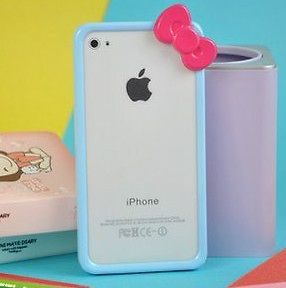 iphone 4 hello kitty bumper in Cell Phone Accessories