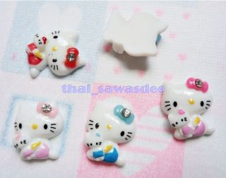 Resin Hello Kitty Doll Flatback Scrapbooking Embellishments Cabochon