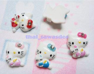 Resin Hello Kitty Doll Flatback Scrapbooking Embellishments Cabochon