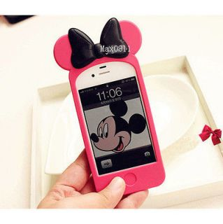Mickey Minnie Mouse Ear Hello Kitty Case Back Cover for i Phone 4 4S S