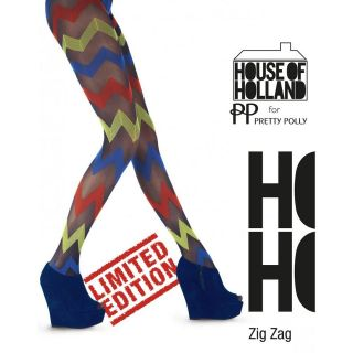House of Holland by Henry Holland Zig Zag Tights, Zig Zag Patterned