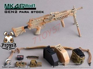 Crazy Dummy 1/6 MK46 Mod1:Rifle:750​02 5 Para Stock (Desert) CD003K