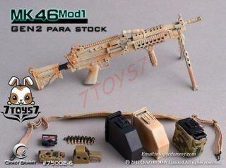 Crazy Dummy 1/6 MK46 Mod1Rifle75002 5 Para Stock (Desert) CD003K