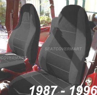 Jeep Wrangler 1987 1996 Neoprene Black Color Car Seat Cover Full Set