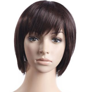 New Short Brown Curly 10.6 inch Hair Wig Womens Accessories