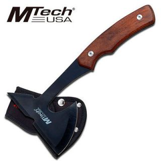 NEW 9 Mtech Full Tang Wood Handle Throwing Tomahawk Axe w/ Sheath
