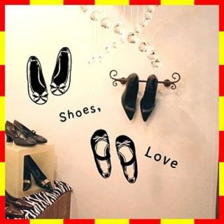 GP 80 LOVE SHOES Graphic Wall Decor Decals Sticker