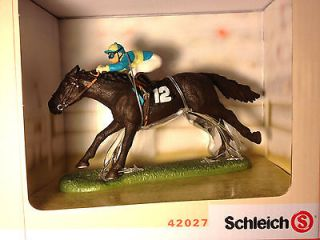 Schleich Race Horse And Jockey Gift Set   Item 42027   New In Box