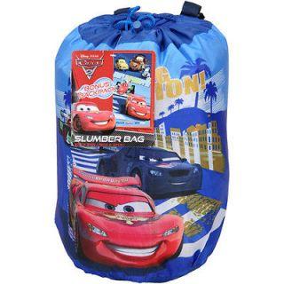 Disney Cars Grand Prix Slumber Bag Backpack Sleeping Bag Party Bedding