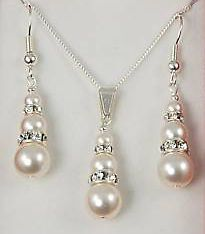 pearl bridal jewelry sets swarovski
