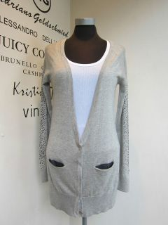 Haute Hippie Light weight Heather Grey Cardigan NWT RRP £384