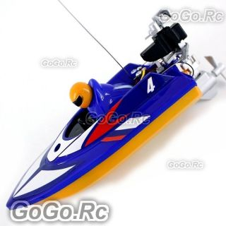 Radio Remote Control RC Mini Racing Speed Boat   Blue (HQ953 BU)